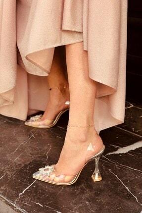 LAMİNTA Sunset Silver Şeffaf Taşlı Topuklu Ayakkabı 1