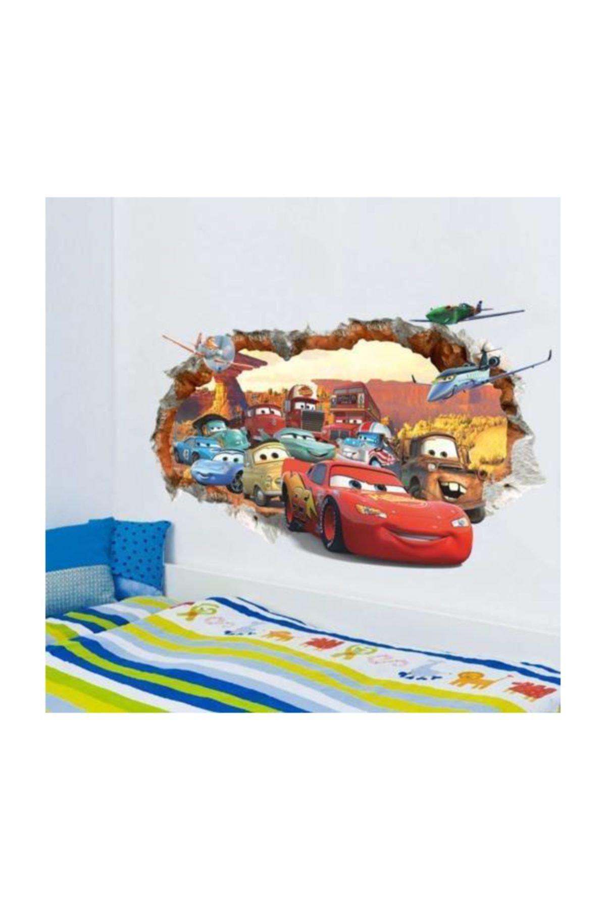 Çocuk Ve Bebek Odasi Cars Arabalar Şimşek Mcqueen Duvar Dekor Süsleme Sticker Pvc