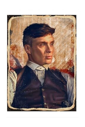 Tablomega Thomas Shelby Model Ahşap Tablo 25x35cm 0