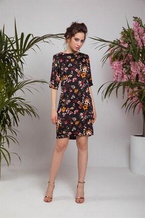 Cream&Rouge 18y151 Elbise Çiçekli 1