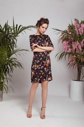 Cream&Rouge 18y151 Elbise Çiçekli 2