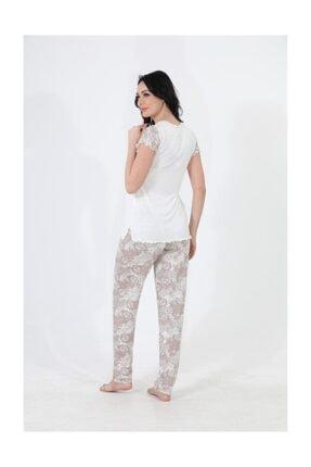 Etoile Kadın Pijama Gecelik Yazlık Kısa Kol Pijama Takımı / 98109 2