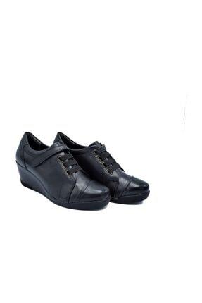 Zaim Kundura Hakiki Deri Siyah Kadın Ayakkabı 1