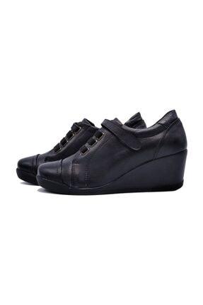 Zaim Kundura Hakiki Deri Siyah Kadın Ayakkabı 3