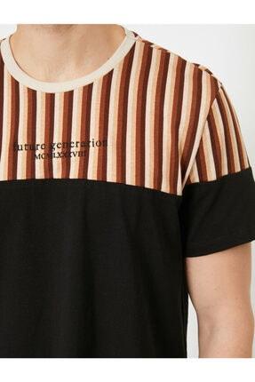 Koton Erkek Siyah T-Shirt 0YAM14713OK 4