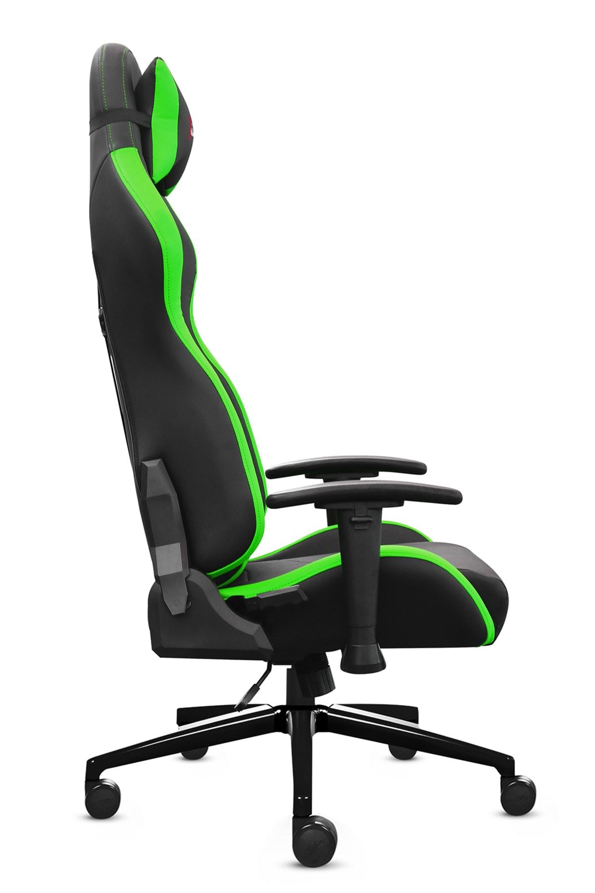 XDrive 15'Li Profesyonel Oyun   Oyuncu Koltuğu Yeşil/Siyah 2