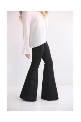 Modaonna Siyah Yüksek Bel Ispanyol Pantolon 0