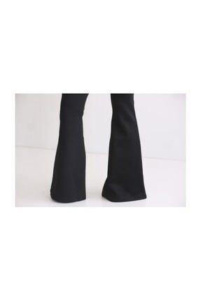 Modaonna Siyah Yüksek Bel Ispanyol Pantolon 2
