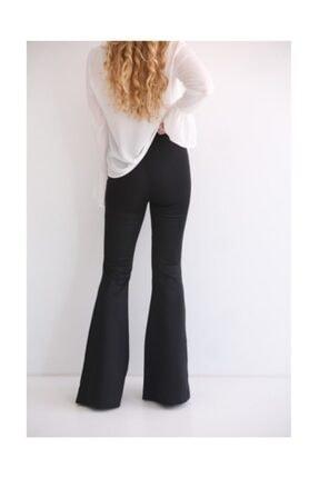 Modaonna Siyah Yüksek Bel Ispanyol Pantolon 3