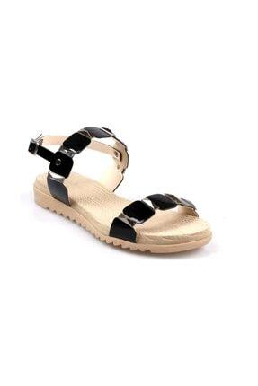 KEÇELİ Kadın Siyah Sandalet 0