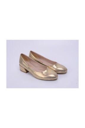Ayakkabin11 Kadın Abiye Topuklu Ayakkabı Altın Rengi 3
