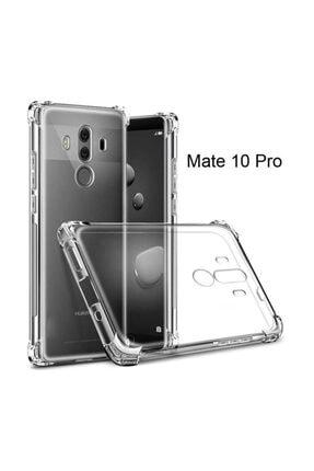 Dijimedia Huawei Mate 10 Pro Kılıf Şeffaf Köşe Korumalı Lüx Darbe Emici Silikon 1