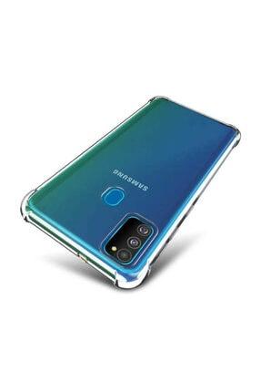 Dijimedia Samsung Galaxy M30s Kılıf Şeffaf Köşe Korumalı+ekran Koruyucu Nano Cam 0