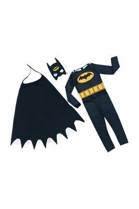 Tpm Orjinal Batman Çocuk Kostümü - Maskeli Pelerinli Batman Kostümü - Batman Kostümü 0