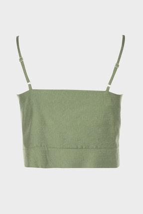 TRENDYOLMİLLA Yeşil Crop Bluz TWOSS20BZ1006 1