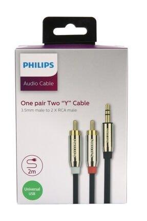 Philips Swr2120c/93 3.5mm Stereo Erkek / Rca Erkek Ses Kablosu - 2 Metre 1