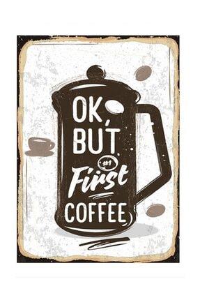 Tablomega Ilk Önce Bir Kahve Tasarım Mdf Tablo 35x50cm 0