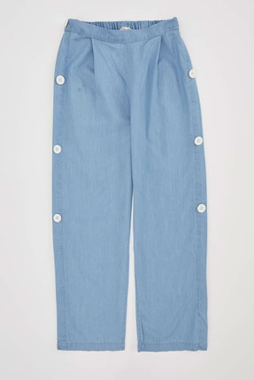 Defacto Kız Çocuk Düğme Detaylı Culotte Pantolon 0