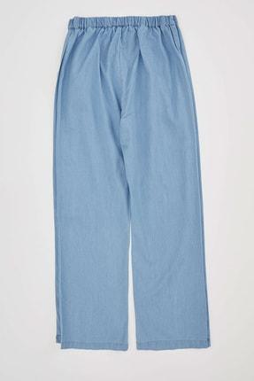 Defacto Kız Çocuk Düğme Detaylı Culotte Pantolon 1
