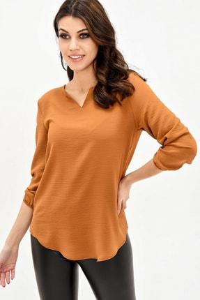 modaateşi Kahverengi Kadın Bluz 1