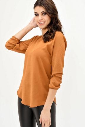 modaateşi Kahverengi Kadın Bluz 2