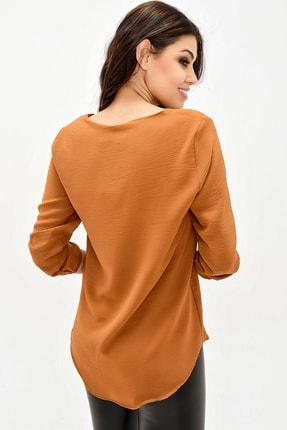 modaateşi Kahverengi Kadın Bluz 4