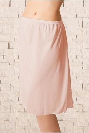 Kadın Ten Uzun Polyester Klasik Jüpon Kombinezon ELF568ANIL0616CCM