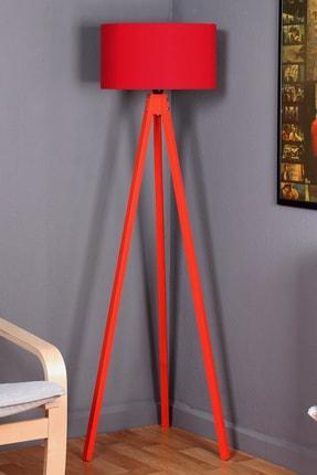 Zeyrek 3 Ayaklı Lambader - Kırmızı / Kırmızı 0