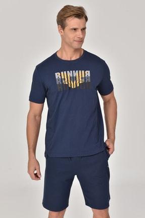 bilcee Lacivert Erkek T-shirt  GS-8811 1