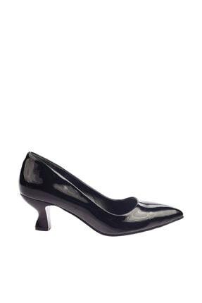 Dgn Siyah Rugan Kadın Topuklu Ayakkabı 230-186 1