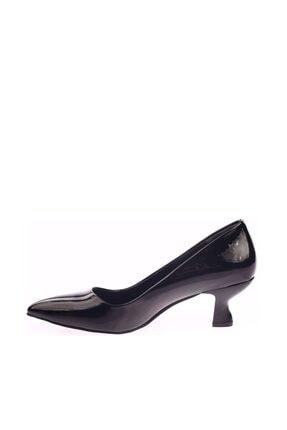 Dgn Siyah Rugan Kadın Topuklu Ayakkabı 230-186 2