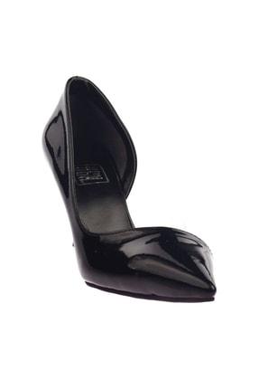 Dgn Siyah Rugan Kadın Topuklu Ayakkabı 152-186 0