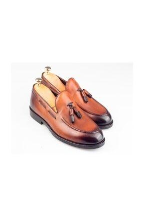 BYŞENOLİLHAN Deri Loafer Kahverengi Erkek Ayakkabı 0
