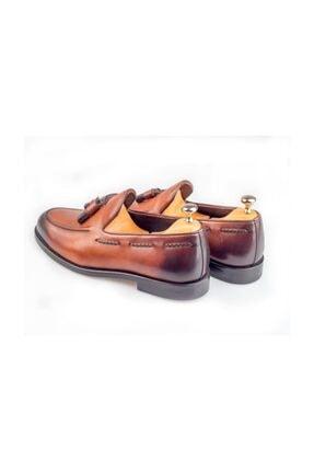 BYŞENOLİLHAN Deri Loafer Kahverengi Erkek Ayakkabı 2