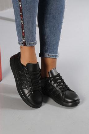 Ayakkabı Modası Siyah-Siyah Kadın Sneaker M4000-19-101001R 1