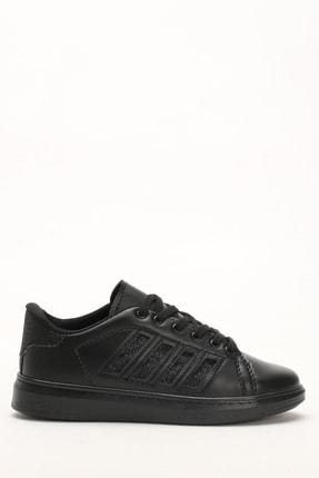 Ayakkabı Modası Siyah-Siyah Kadın Sneaker M4000-19-101001R 2