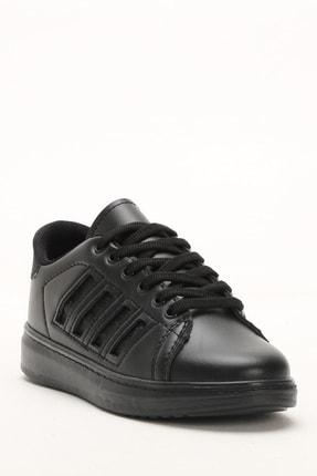 Ayakkabı Modası Siyah-Siyah Kadın Sneaker M4000-19-101001R 3