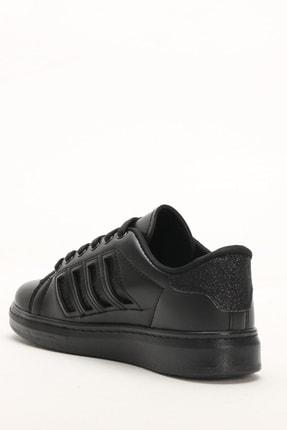 Ayakkabı Modası Siyah-Siyah Kadın Sneaker M4000-19-101001R 4