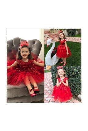 Mixie Kırmızı doğum Günü, Tüllü Abiye Elbise 1