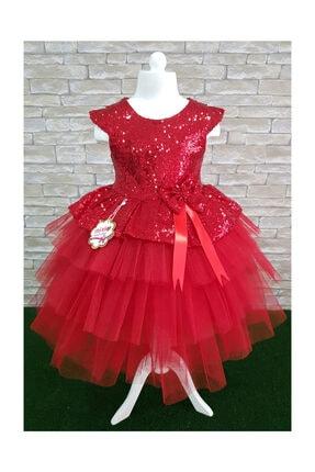 Mixie Kırmızı doğum Günü, Tüllü Abiye Elbise 2