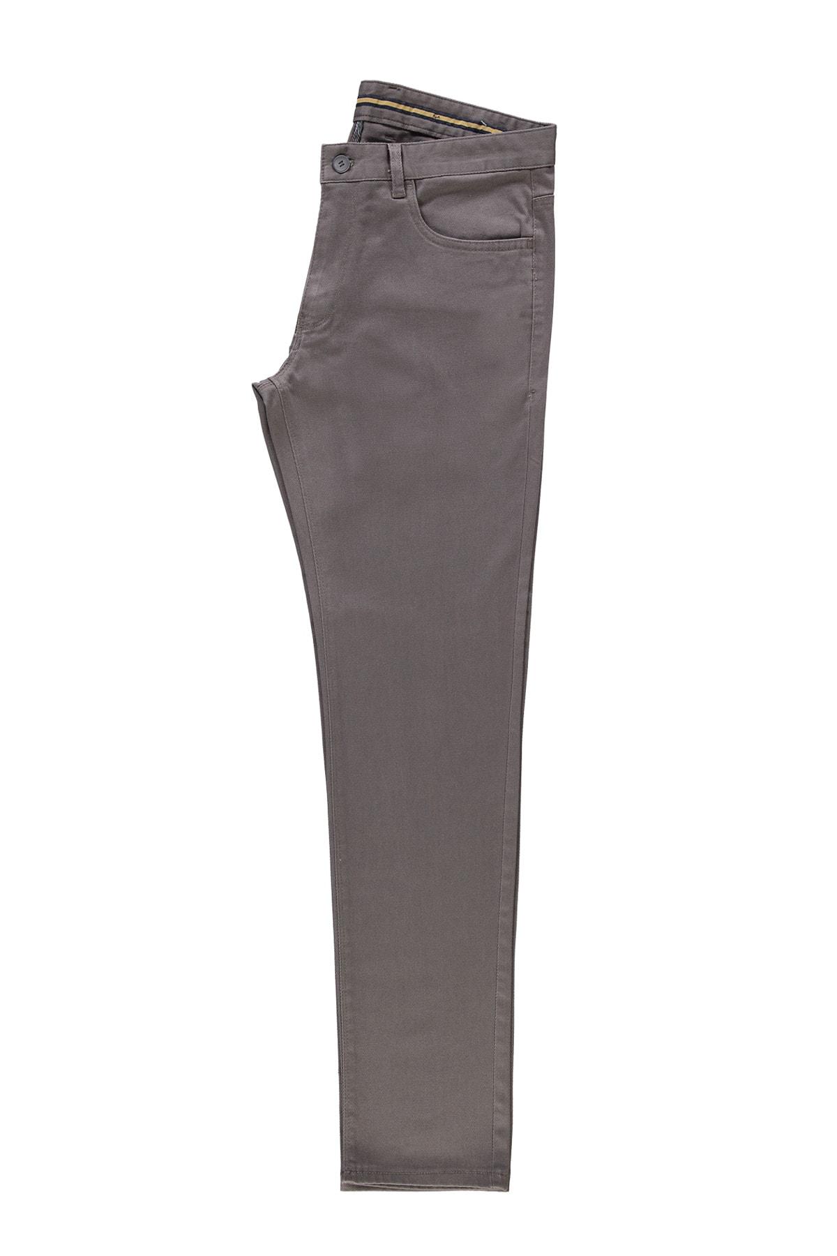 Erkek Haki Slim Fit Spor Desenli Pantolon 85836