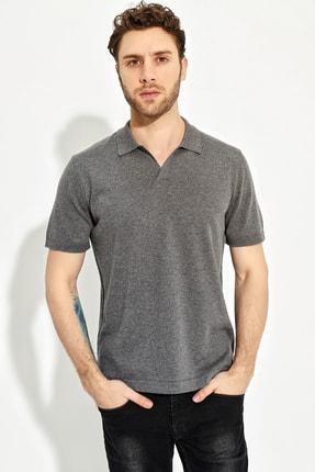 CHUBA Antrasit Erkek Polo Yaka Yırtmaçlı Sportriko T-shirt 1