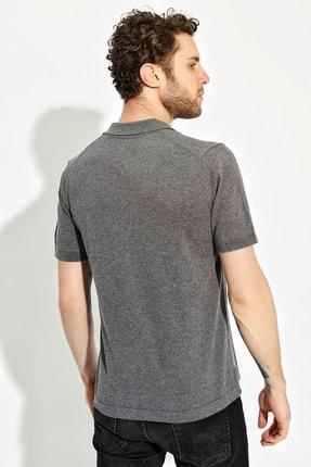 CHUBA Antrasit Erkek Polo Yaka Yırtmaçlı Sportriko T-shirt 3