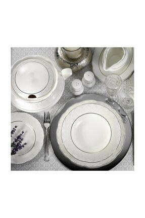 Kütahya Porselen Bone Olympos 62 Parça 9287 Desenli Yemek Takımı 0