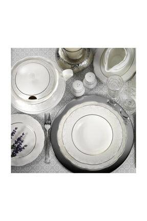 Kütahya Porselen Bone Olympos 62 Parça 9287 Desenli Yemek Takımı 1