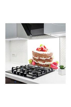 PRATİK DEKOR Cam Ocak Arkası Koruyucu | Pasta Model 0