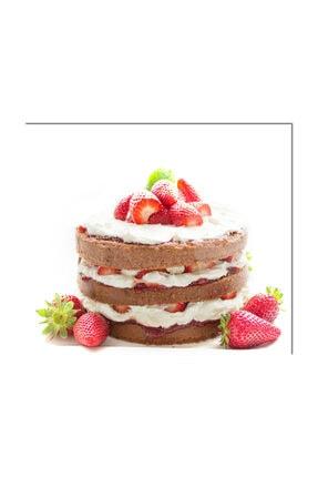 PRATİK DEKOR Cam Ocak Arkası Koruyucu | Pasta Model 1