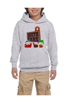 Zepplin Giyim South Park In Entrance Gri Çocuk Kapşonlu Sweatshirt 0
