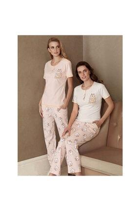 Fantasy Kadın  Nota Desen Kısa Kol Pijama Takımı  F-5033 0
