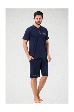 ALİMER Yazlık Erkek Pijama Takımı 3 Lü Şortlu Kutulu Çeyizlik 0